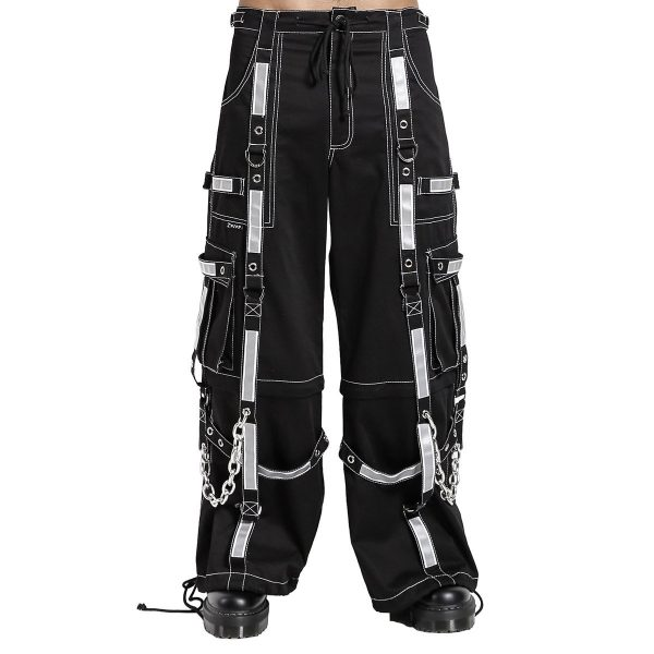 Gothic Bondage Reflective Men Pant Alternative Punk Rock EMO Trouser Pant Shorts