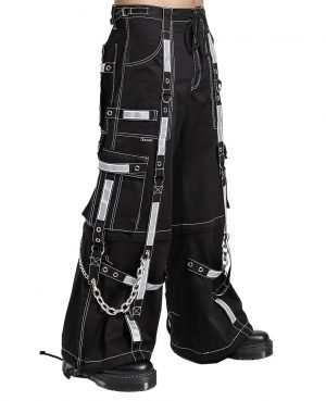 Gothic Bondage Reflective Men Pant Alternative Punk Rock EMO Trouser Pant Shorts