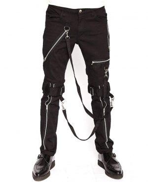 Men's Electro Bondage Rave Gothic Cyber Chain Gothic Jeans Punk Rock Tripp Pant's