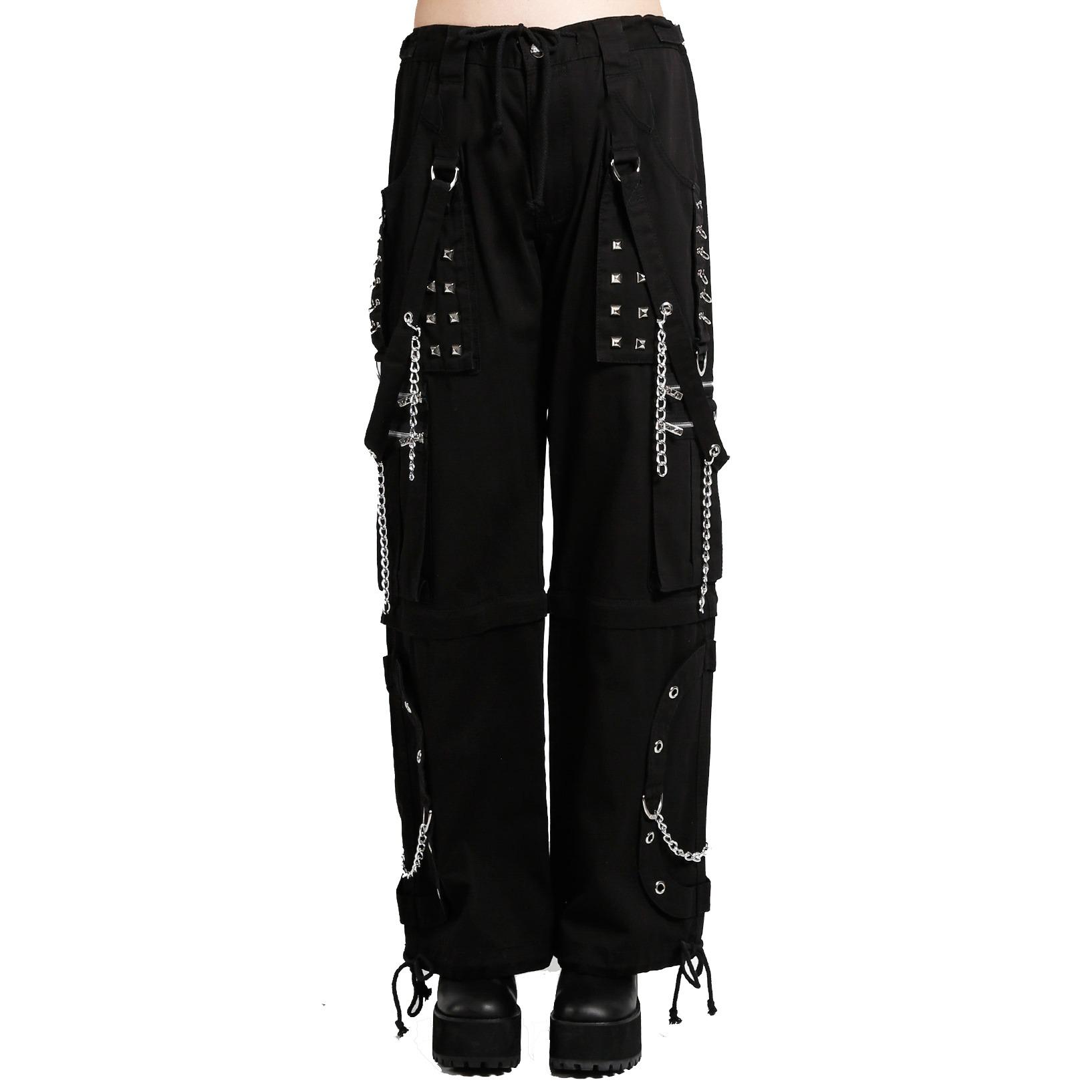 Prime Quality Women's Tripp Electro Black Bondage Rave Gothic Cyber Chain Goth Jeans Punk Rock Pants