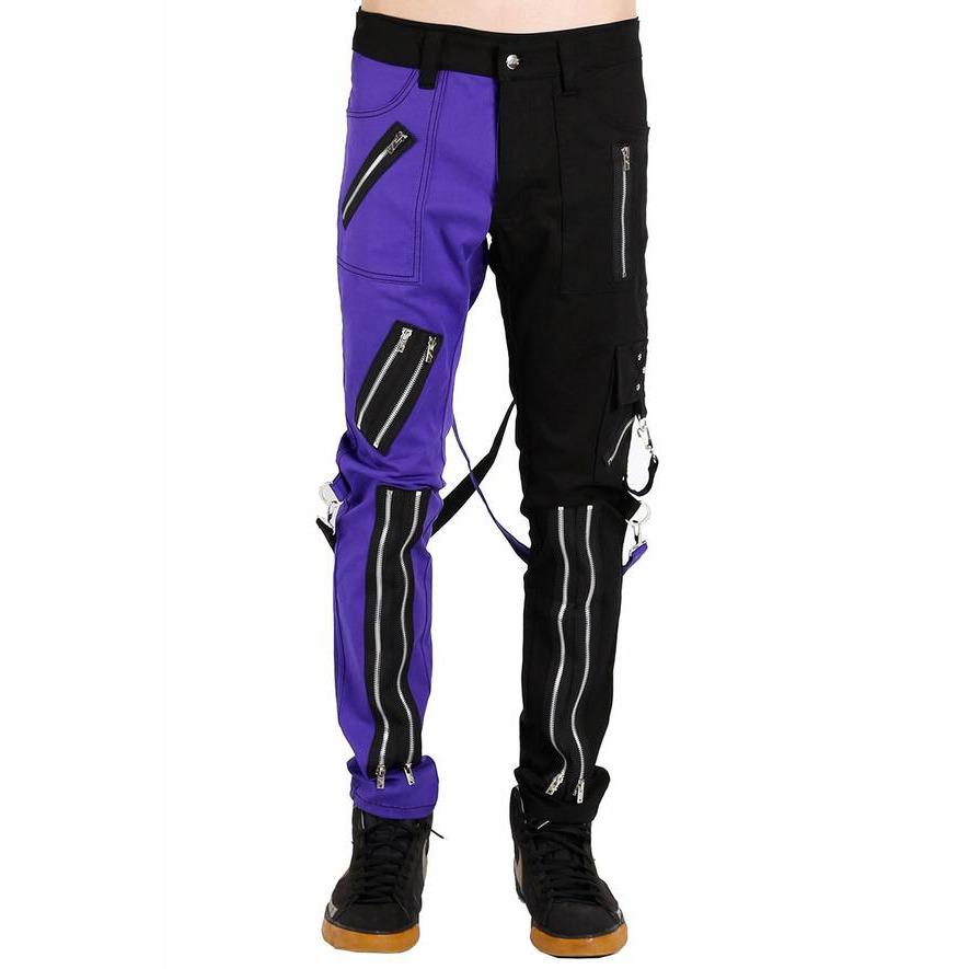 Prime Quality Men Gothic Bondage Gents Pant Black & White Cotton Pants Pant Rock Hard Trouser Heavy Weight Pant Emo/Tripp