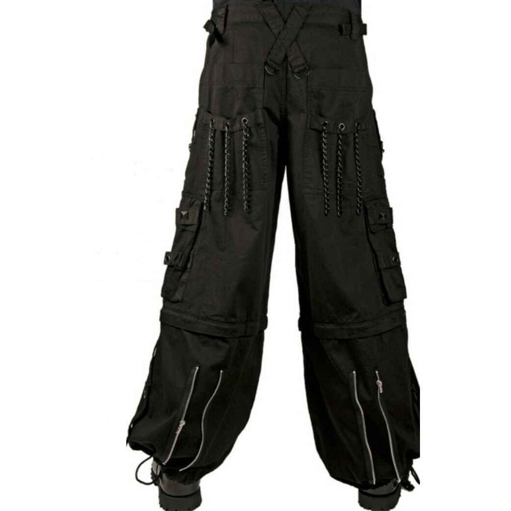 BONDAGE RAVE SHORTS GOTHIC BIKER CYBER EMO SKATER GOTH PANTS JEANS