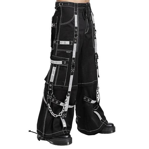 Women,s Bondage Reflective Men Pant Alternative Punk Rock EMO Trouser Pant Shorts