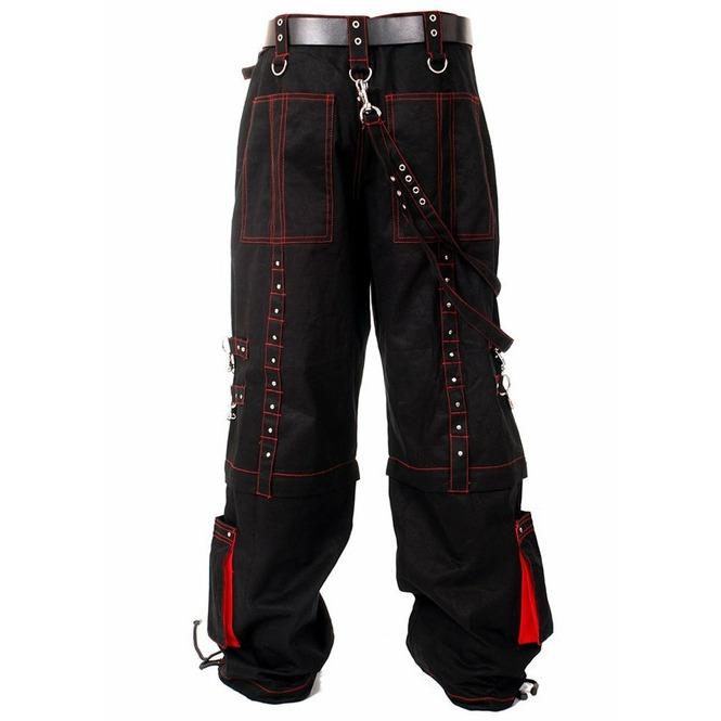 Men Gothic Bondage Trouser Cyber Red Thread Shorts Metal Studs Trouser Pant