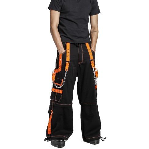 Black/Orange Zip Pants