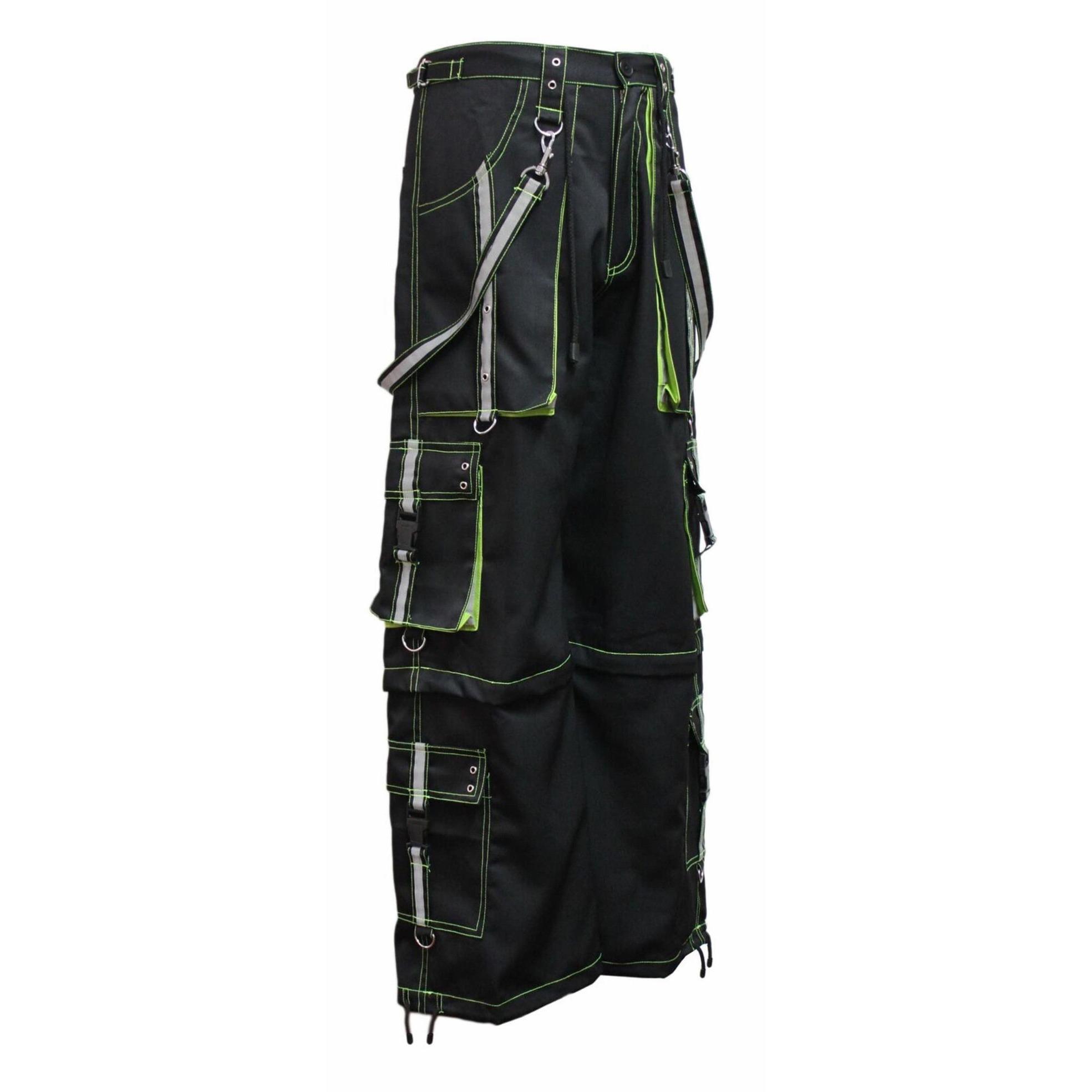 men,s Gothic handmade Bondage Reflective Men Pant 6 pockets Punk Rock Trouser Pant Shorts