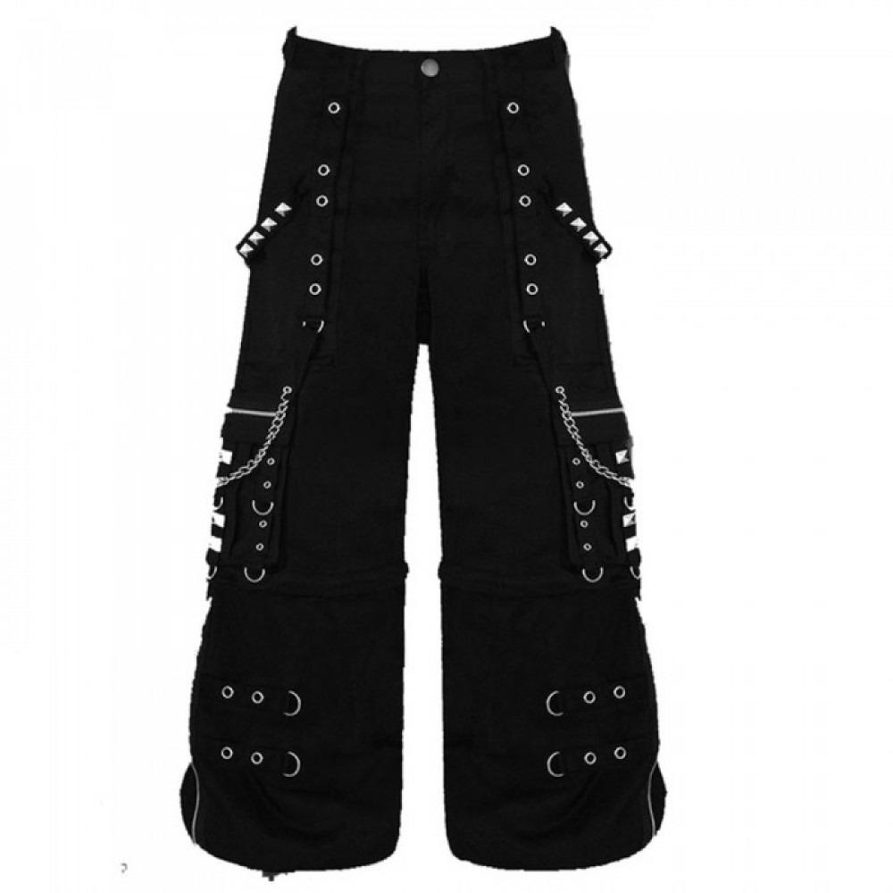 Men Gothic Men Attitude Cyber Goth Trouser Bondage Shorts Pant